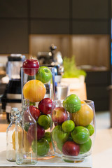Fruits on kitchen