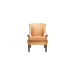Realistic Chair Element. Vector Illustration Of Realistic Comfortable Isolated On Clean Background. Can Be Used As Armchair, Chair And Furniture Symbols.