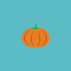 Flat Icon Pumpkin Element. Vector Illustration Of Flat Icon Gourd Isolated On Clean Background. Can Be Used As Pumpkin, Gourd And Vegetable Symbols.