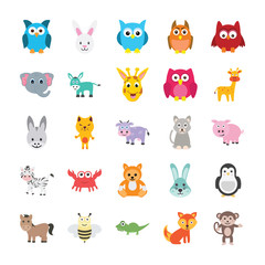 Animals Colored Vector Icons 1