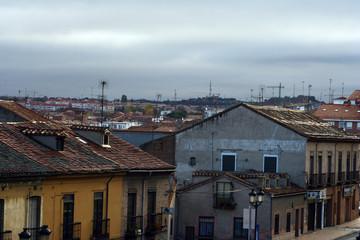Aged building, city scenario