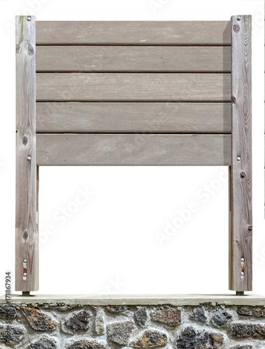 panneau d 39 affichage en bois brut fond blanc photo libre. Black Bedroom Furniture Sets. Home Design Ideas