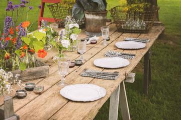 Garden party table