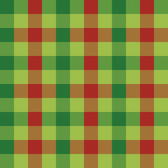 Seamless Christmas gingham check wrapping paper pattern