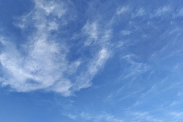 texture of a blue sky with clouds