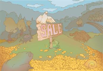 Sale autumn illustration