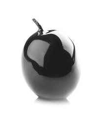 Ripe olive on white background