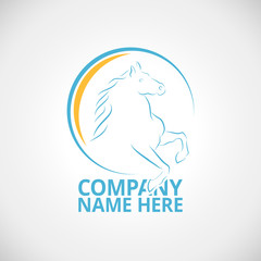 Logo with horse vector illustration