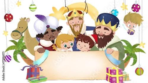 Felicitaciones De Navidad Con Los Reyes Magos.Felicitacion De Navidad Con Reyes Magos Material De