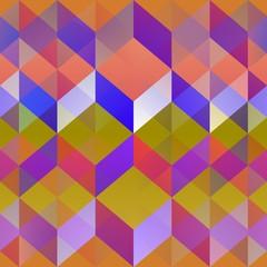 Abstract geometric intermingling pattern