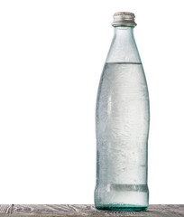 Bottle with ice water
