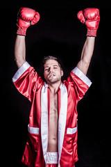 Winning Male Boxer