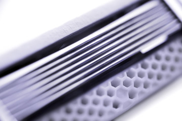 Razor blades cartridge extremal close up