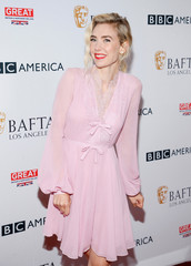 Actor Vanessa Kirby poses at BAFTA Los Angeles + BBC America TV Tea Party in Beverly Hills