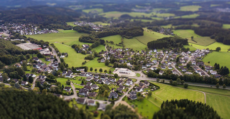 Aerial view of Marienheide - Kalsbach Tilt/Shift