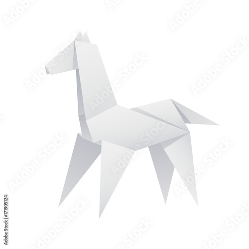 Paper Horse Origami Stock Image And Royalty Free Vector Files On