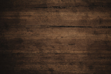 Old grunge dark textured wooden background,The surface of the old brown wood texture Wall mural