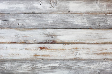 Reclaimed weathered white painted wooden boards Wall mural