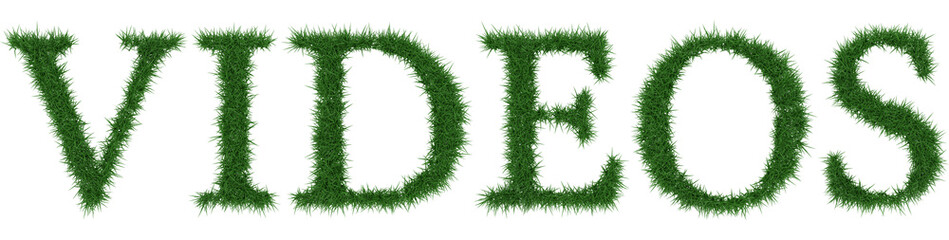 Videos - 3D rendering fresh Grass letters isolated on whhite background.