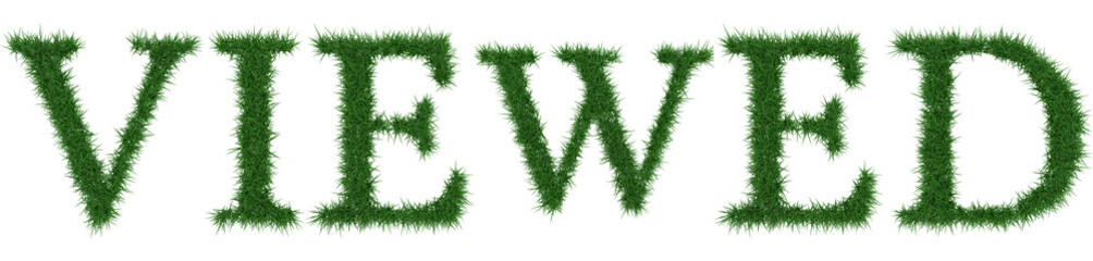 Viewed - 3D rendering fresh Grass letters isolated on whhite background.