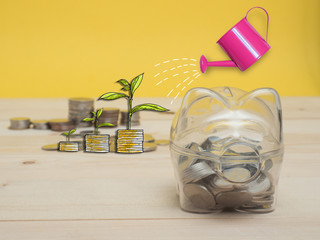 Piggy Bank Money Saving Finance Concept