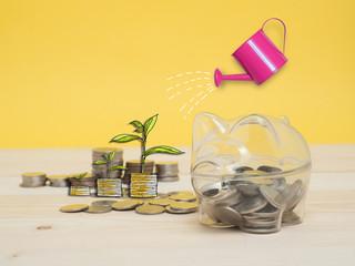 Piggy Bank Money Saving Finance Concept