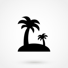 The coconut tree vector icon