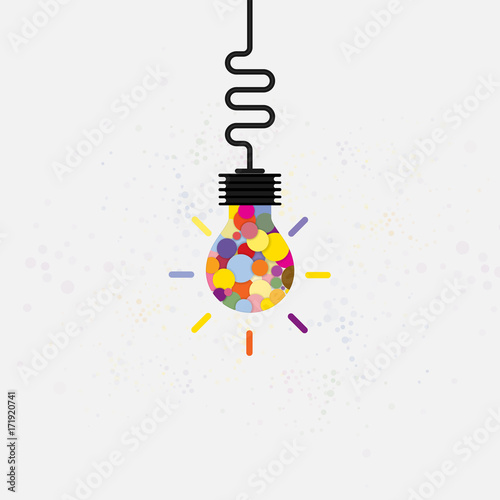 Creative Bulb Light Idea Abstract Vector Design TemplateConcept Of