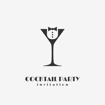 Cocktail party logo
