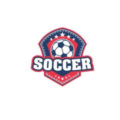 Football or soccer ball icon for sport team badge