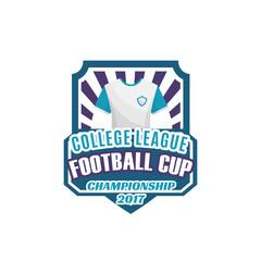 Football or soccer sport game shield label design