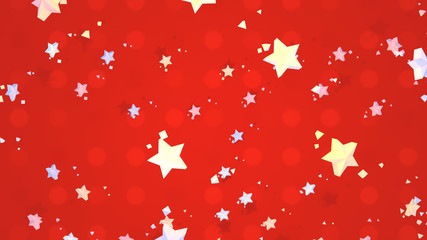 Colorful stars. Merry Christmas greeting card. 3d rendering picture.