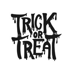 Trick or treat. Halloween theme.