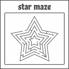 Star Maze/Labyrinth For Kids