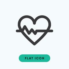 Heart rhythm vector icon