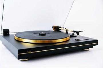 Fototapeta Gramofon Gold Vintage Audio HIFI obraz