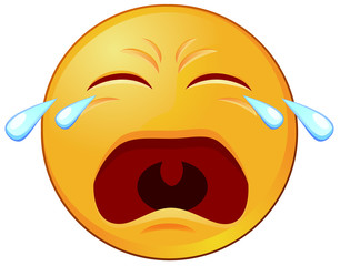 Crying emoji vector image
