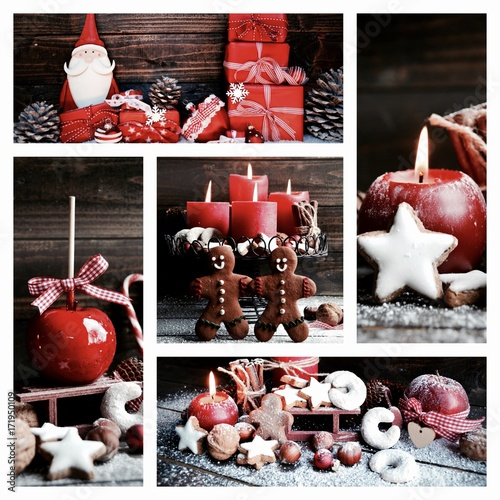 weihnachten collage advent adventskerzen stockfotos und lizenzfreie bilder auf fotolia. Black Bedroom Furniture Sets. Home Design Ideas