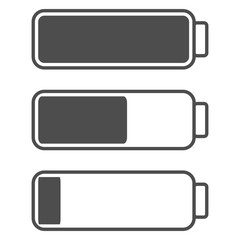 Smartphone or cell phone low battery icon. Low energy symbol. Flat vector illustration.
