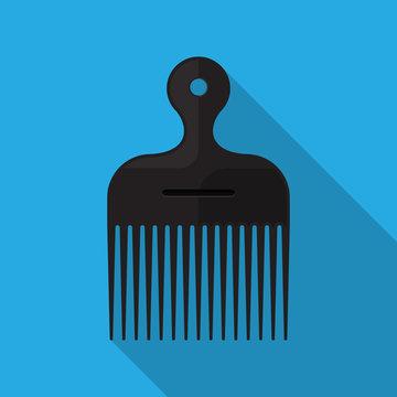 Afro Comb vector flat design.