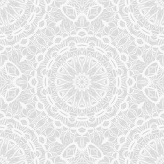 Foto auf AluDibond Boho-Stil art deco monochrome seamless vector pattern with abstract circle floral ornament. design element for wallpaper, background, invitation, fabric print