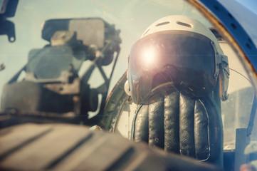 Pilot's old helmet.