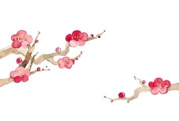 梅の花、大と小