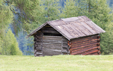 Old cabin in the Alps