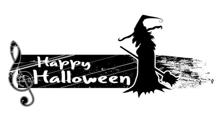 Halloween Witch Banner Vector