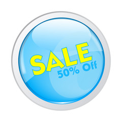Sale Button Vector - 50% off