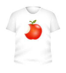 Red Apple T-Shirt Vector
