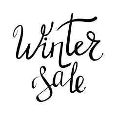 Winter Sale Typographic Poster