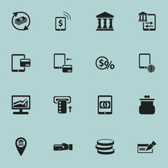 Set Of 16 Editable Investment Icons. Includes Symbols Such As Statistics, Banknote, Greenback And More. Can Be Used For Web, Mobile, UI And Infographic Design.