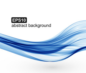 Vector abstract blue waves background.